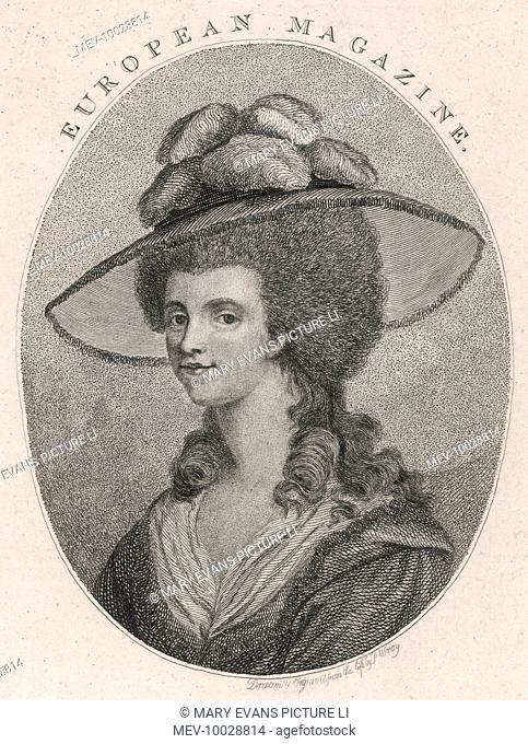 GEORGIANA SPENCER DUCHESS OF DEVONSHIRE Daughter of 1st Earl Spencer Married 5th Duke of Devonshire