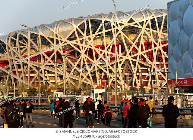 Bird's Nest National Stadium and Watercube National Swimming Centre, 2008, Olympic Green, Beijing, China, Asia