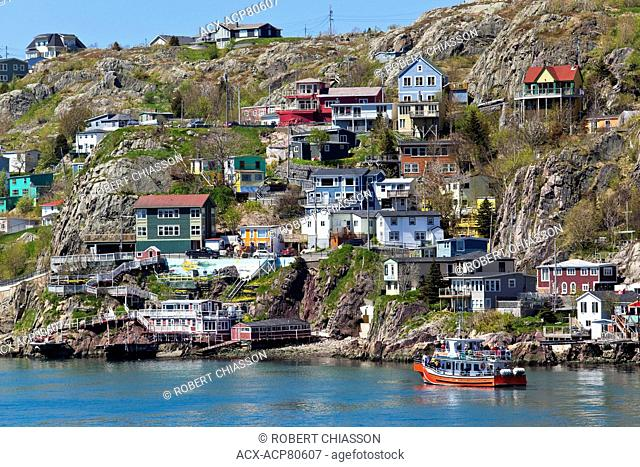 The Battery is a small neighbourhood at the entrance to St. John's harbour that is noted for its colourful houses built at the base of Signal Hill