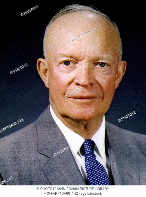 """Dwight David """"""""Ike'""""""""Eisenhower, American soldier and 34th President of the United States (1953-1961). In World War II served as Supreme Command of Allied..."""