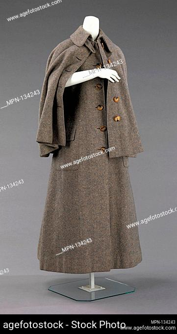 Coat. Date: 1885; Culture: British; Medium: wool; Credit Line: Brooklyn Museum Costume Collection at the museum, Gift of the Brooklyn Museum