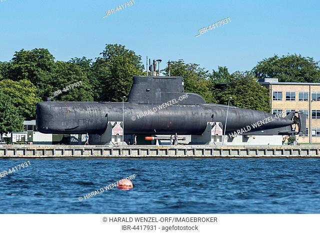 Submarine, Military Open Air Museum, Inner Harbor, Nyholm Island, Copenhagen, Denmark