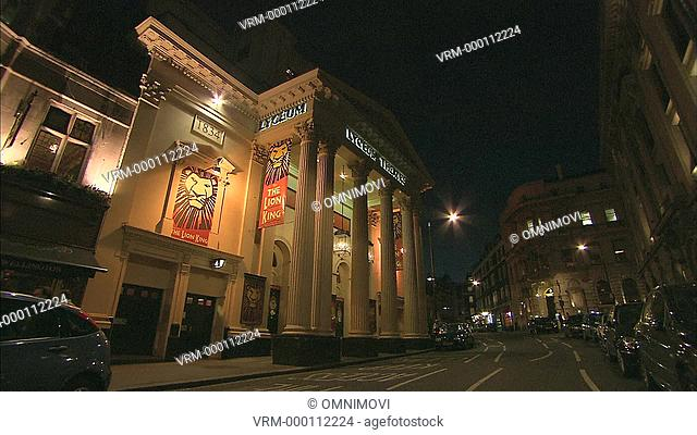 Low angle view of the illuminated Lyceum Theatre