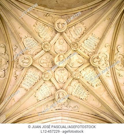 Plateresque vaults (16th century), San Zoilo monastery. Carrión de los Condes, Palencia province. Castilla-Léon, Spain