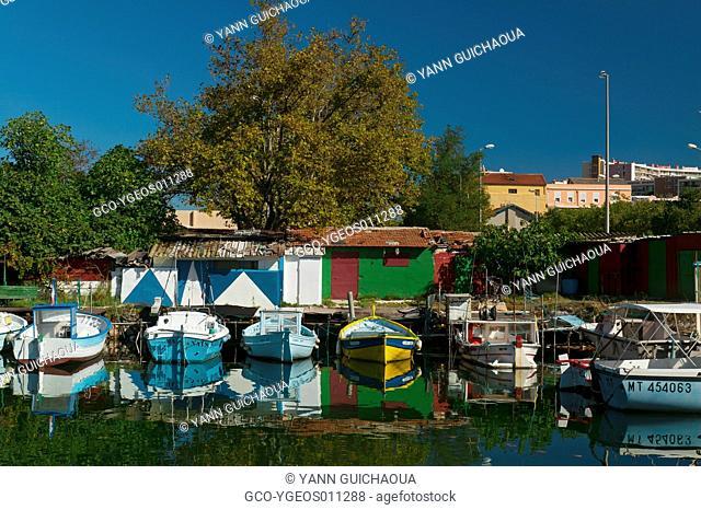 Port De Bouc,Fishing Harbour Of Le Trou, Bouches Du Rhone, France