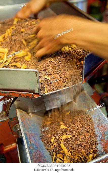 Mexico, Oaxaca, cacao mill