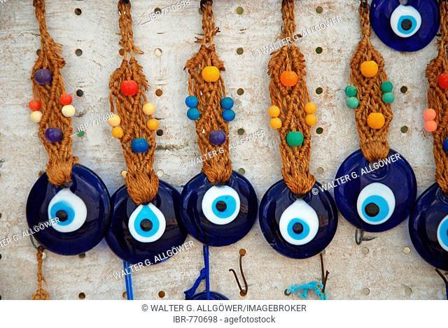 Hamsa, Eye of Fatima, Hand of Fatima amulets to guard against the evil eye, Anatolia, Turkey