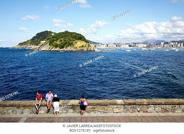 Bahia de La Concha, Donostia, San Sebastian, Gipuzkoa, Euskadi, Spain