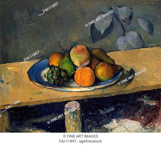 Apples, Pears and Grapes. Cézanne, Paul (1839-1906). Oil on canvas. Impressionism. 1879-1880. State Hermitage, St. Petersburg. 38, 5x46, 5. Painting