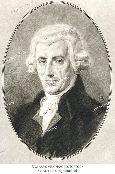 (Franz) Joseph Haydn, 1732-1809. Austrian composer of the Classical period. Illustration by Gordon Ross, American artist and illustrator (1873-1946)