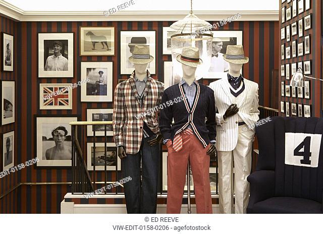 Interior store view. Hackett - Regent Street, London, United Kingdom. Architect: n.a, 2007