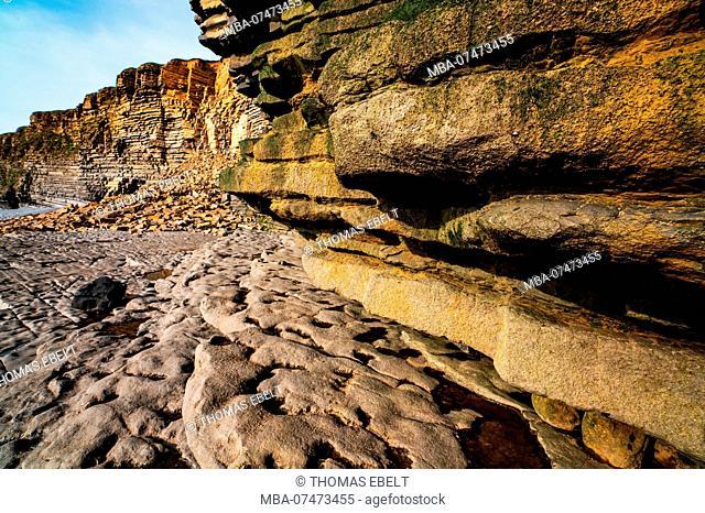 Coastal formation at Nash Point, Wales