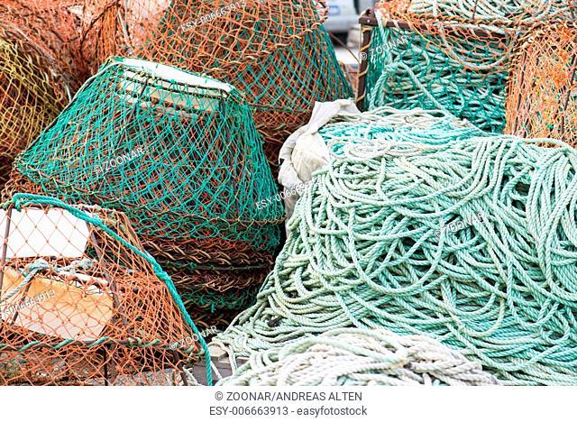 Fish nets background