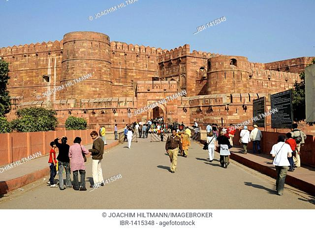 Red Fort, Agra, Uttar Pradesh, North India, India, South Asia, Asia
