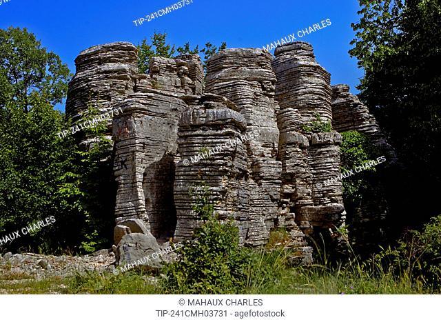 A stone forest near Monodendri village in Epirus, Greece