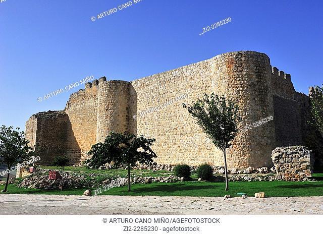 Castle, XIIth century. Urueña, Valladolid, Spain