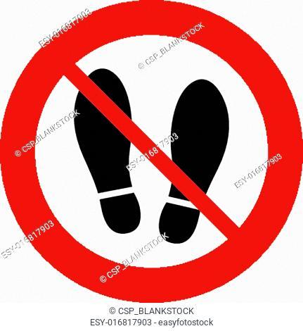 Imprint shoes sign icon. Shoe print symbol