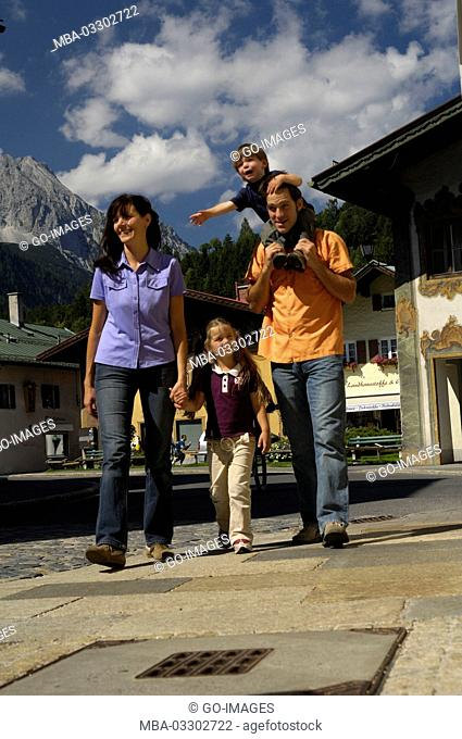 Family in Mittenwald, Upper Bavaria, Germany
