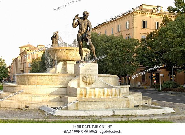 Image of the Fontana dei due fiumi Fountain in Modena, Emilia-Romagna, Italy