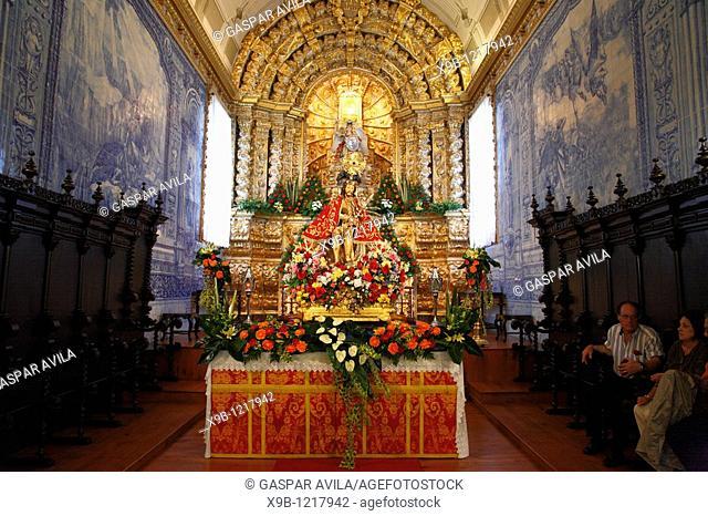 The image of Senhor Bom Jesus da Pedra inside the church of Sao Miguel Arcanjo, Vila Franca do Campo, Azores islands, Portugal