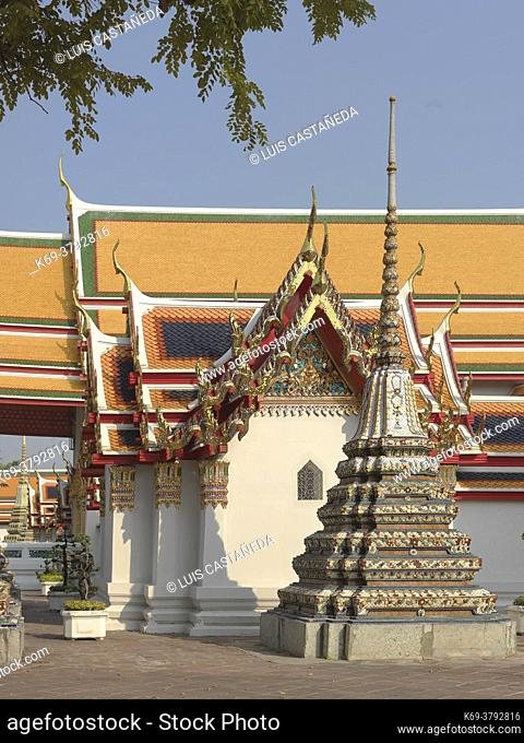 Wat Pho is a Buddhist temple in Phra Nakhon district, Bangkok, Thailand. It is located in the Rattanakosin district directly adjacent to the Grand Palace