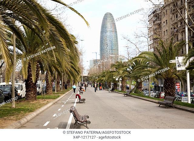 Torre Agbar Agbar-Tower, Barcelona, Spain