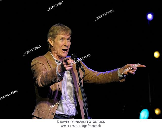 Paul Jones, singer and presenter of BBC Radio 2 Blues Show on stage at Maryport Blues Festival, 2010  Cumbria, England