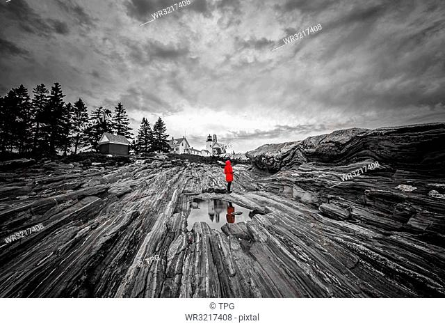 Muscongus Bay;black and white;Maine;USA