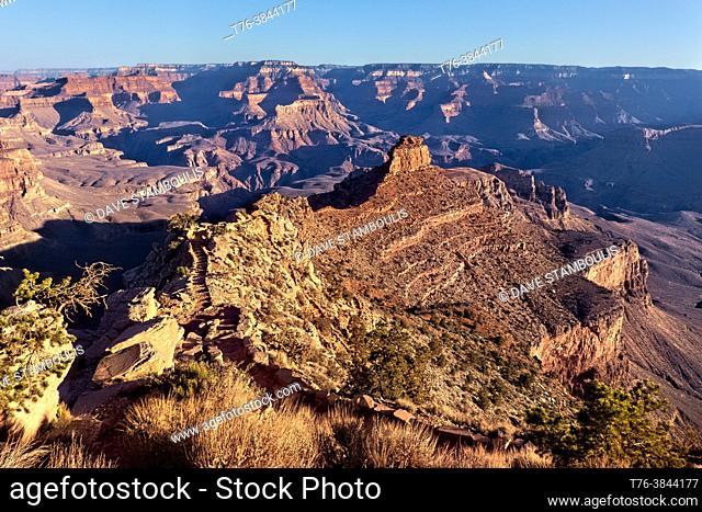 The view desceding the North Kaibab Trail, Grand Canyon National Park, Arizona, U. S. A