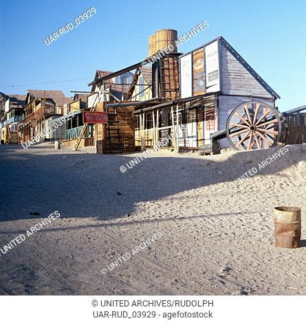 Eine Texas Ranch am Korallenstrand von Eilat am Roten Meer, Israel 1980er Jahre. A Texas ranch at the Coral Beach of Elat at the Red Sea, Israel 1980s