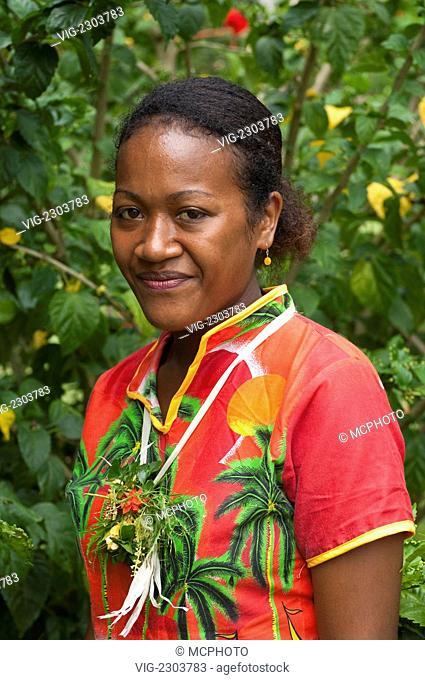 Fiji Beqa Island People Of Beqa 01 01 2010 Stock Photo