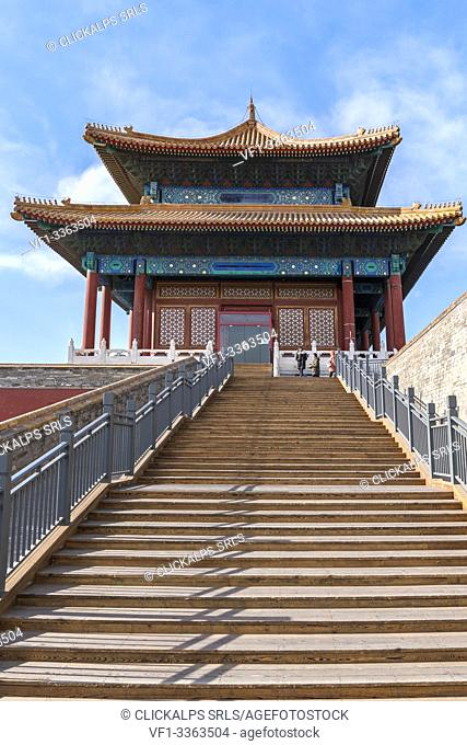 Temple in the Jingshan Park. Beijing, People's Republic of China