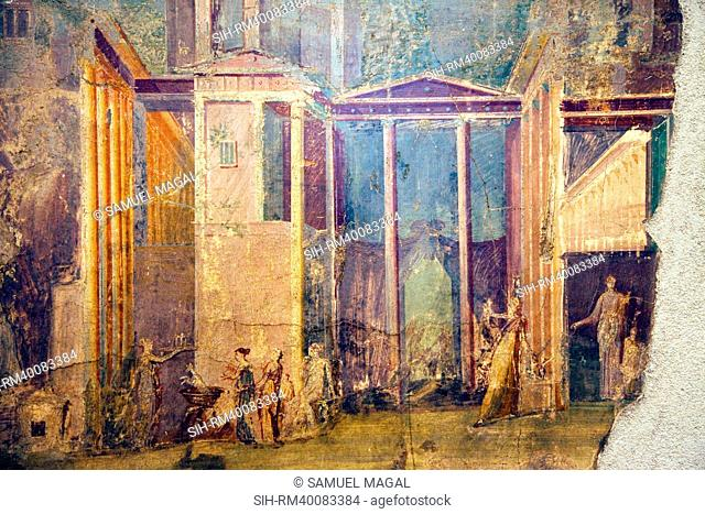 Italy, Naples, Naples Museum, Pompeii, House of the Group of Vases VI 13, 2, Medea and Peliadi
