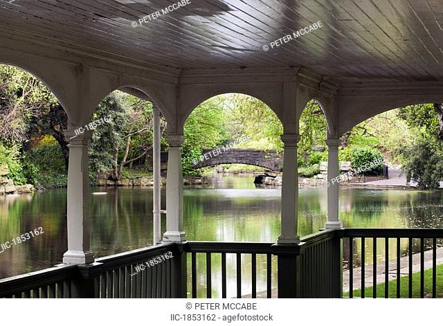 Bandstand in St. Stephen's Green, Dublin City, County Dublin, Ireland