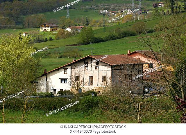 Basque Farm House, Segura, Goierri, Gipuzkoa, Basque Country, Spain