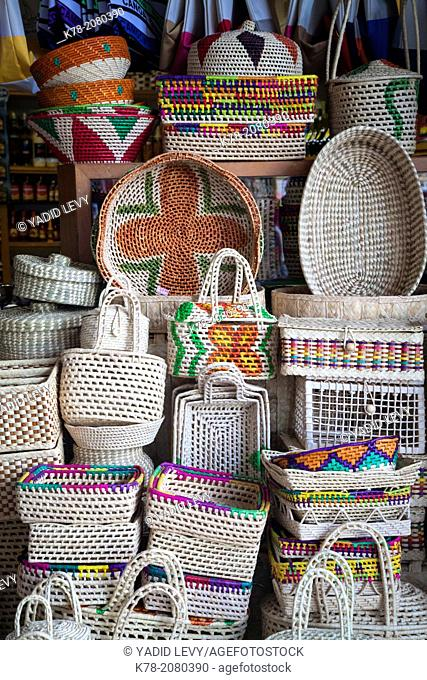 Traditional wickerwork at Mercado Central, Fortaleza, Brazil