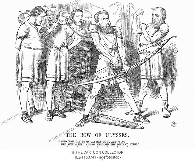 'The Bow of Ulysses, 1875. The Liberal opposition had to choose a new leader following Mr Gladstone's resignation from office following the Liberal defeat in...