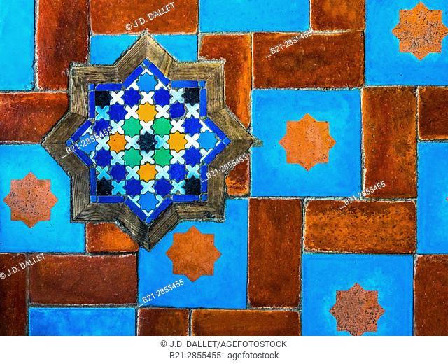 Morocco, wall deco at Chechaouen