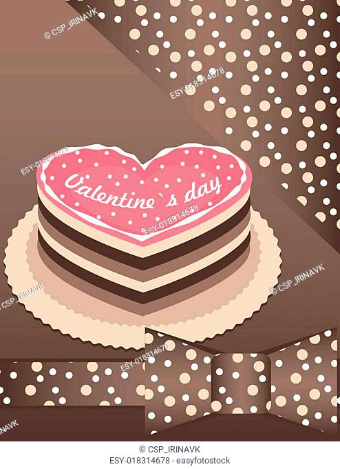 background with Pink cake