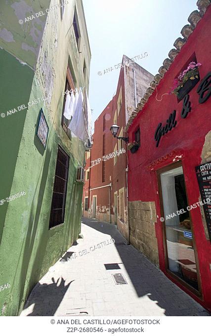 Denia old town in Alicante in Mediterranean sea Spain