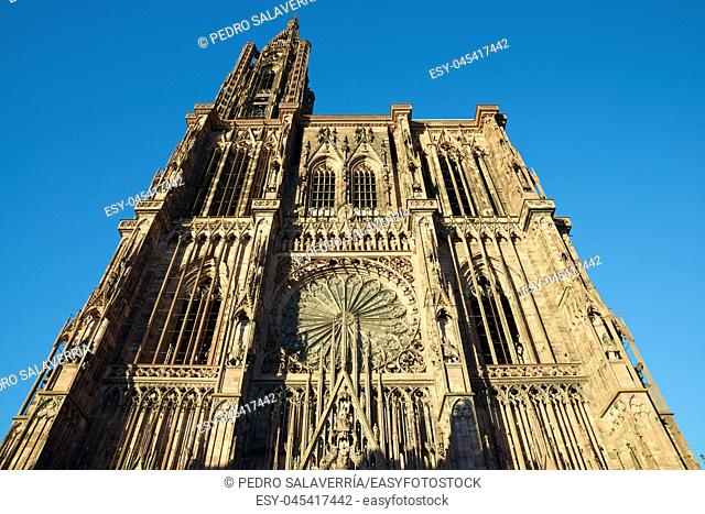 Cathedral in Strasbourg, Alsace, France