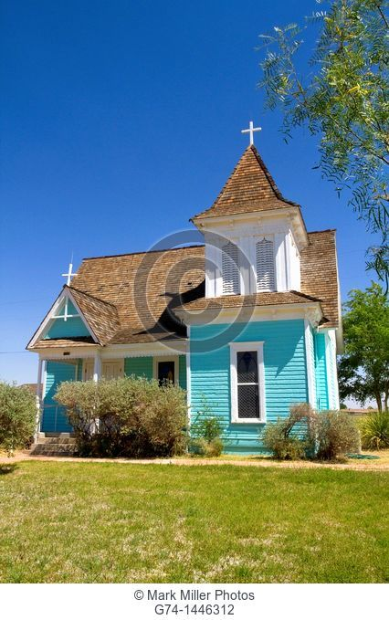 Saint Stephen's Episcopal Church at historic old Fort Stockton park, Texas, USA