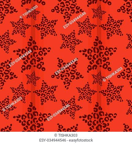 vector pattern, seamless wallpaper with stars in leopard spots