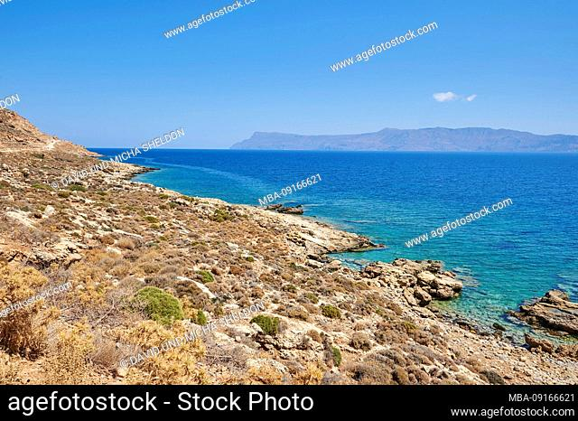 Landscape from the coast at Gramvousa, Crete, Greece