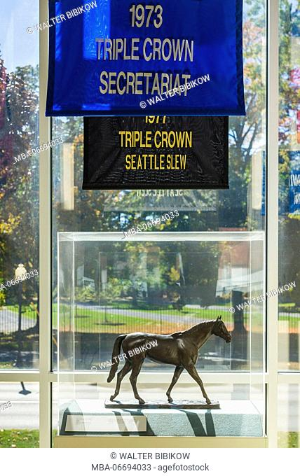 USA, New York, Hudson Valley, Saratoga Springs, National Museum of Horse Racing and Hall of Fame, hourse racing awards