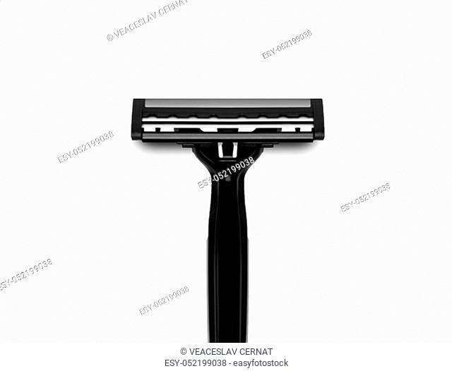Men's shaving razors set. Studio shot isolated on white background