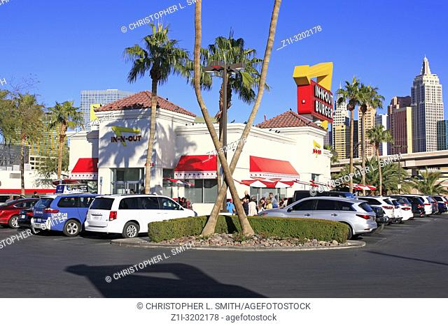 In-n-Out Burger restaurant in Las Vegas, Nevada