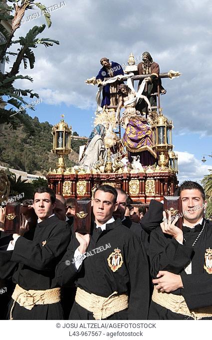 Holy Week procession, Cofradía del Descendimiento, Malaga, Andalusia, Spain