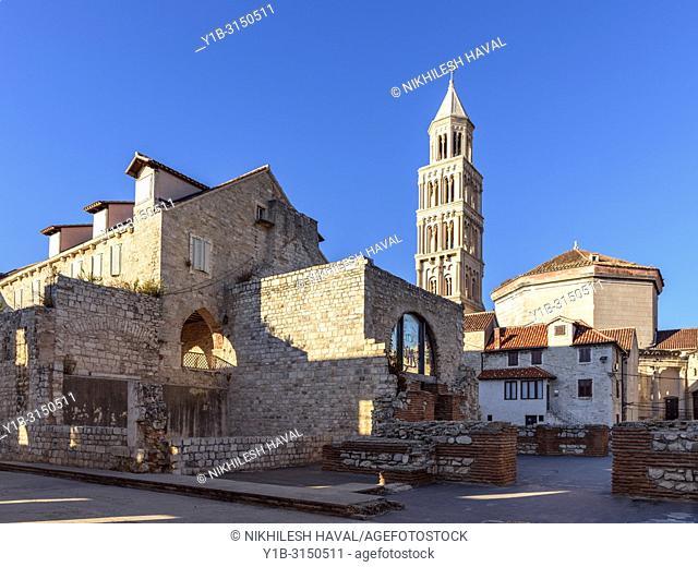 Ethnographic Museum & St. Domnius Cathedral Bell Tower, Split, Croatia