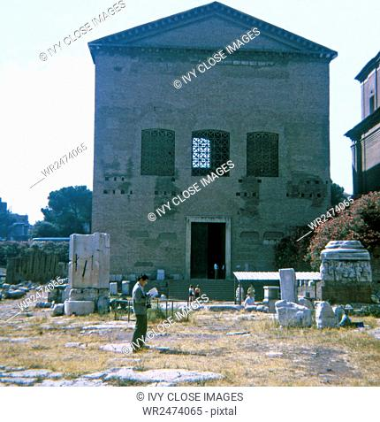 This 1970 photo shows the curia, or Roman Senate House, in the Roman Forum in Rome, Italy. It dates to the time of Julius Caesar and was built the year of his...